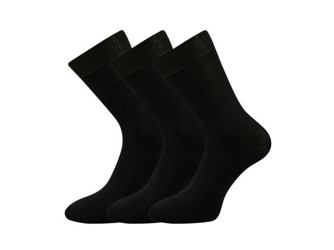 Společenské ponožky 3 kusy v balení Lonka Blažej 100% bavlněné černé