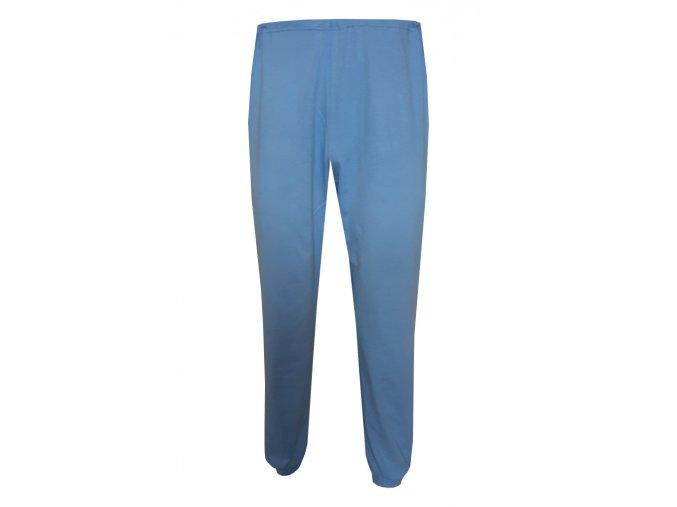 Pánské Pyžamové kalhoty Foltýn dlouhé středně modré