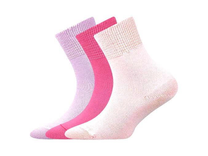 Dětské bavlněné ponožky 3 kusy v balení Boma Romsek dívčí