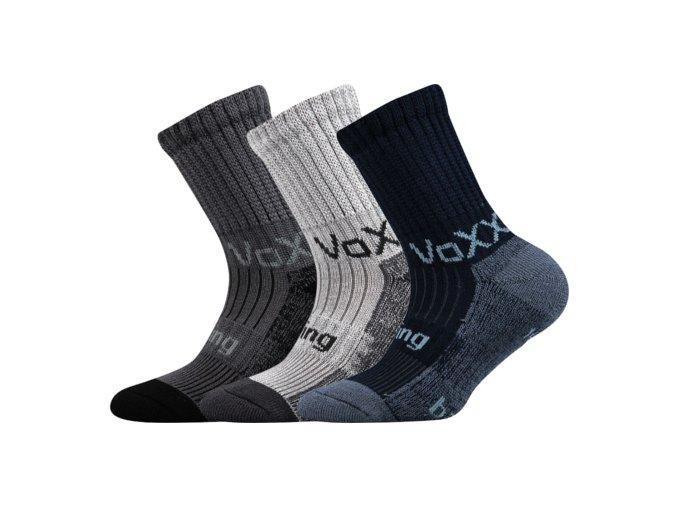 Dětské bambusové ponožky 3 kusy v balení VoXX Bomberik chlapecké