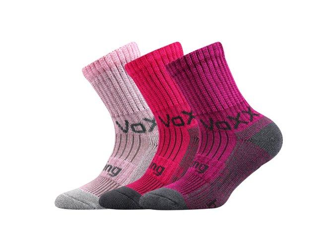 Dětské bambusové ponožky 3 kusy v balení VoXX Bomberik dívčí