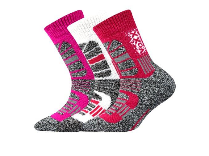 Dětské thermo ponožky 3 kusy v balení VoXX Traction dívčí