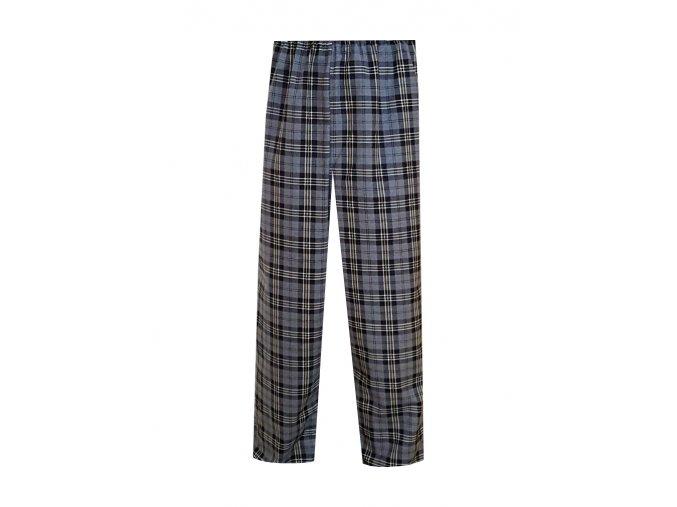 Pánské Pyžamové kalhoty Flanel Foltýn dlouhé šedá kostka