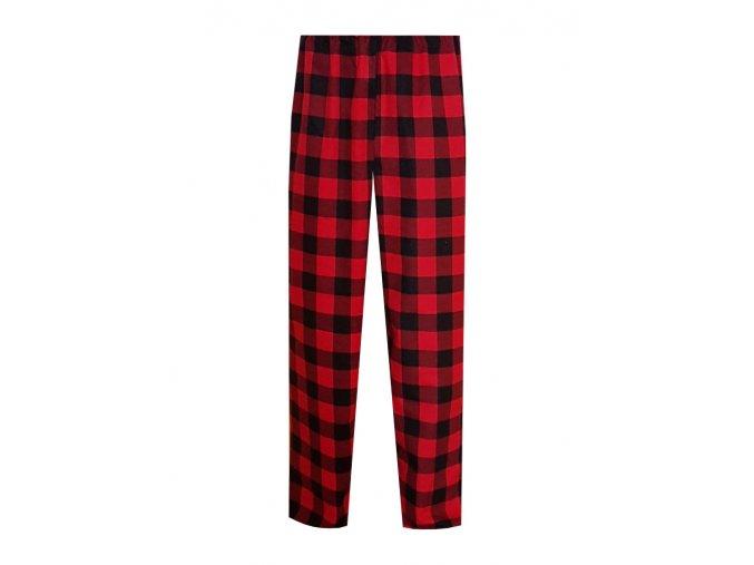Pánské Pyžamové kalhoty Flanel Foltýn dlouhé červenomodrá kostka