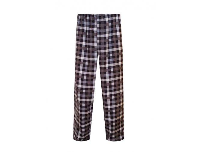 Pánské Pyžamové kalhoty Flanel Foltýn dlouhé černošedá kostka