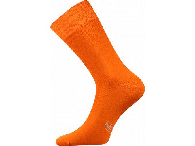 Společenské Ponožky Lonka Decolor oranžová