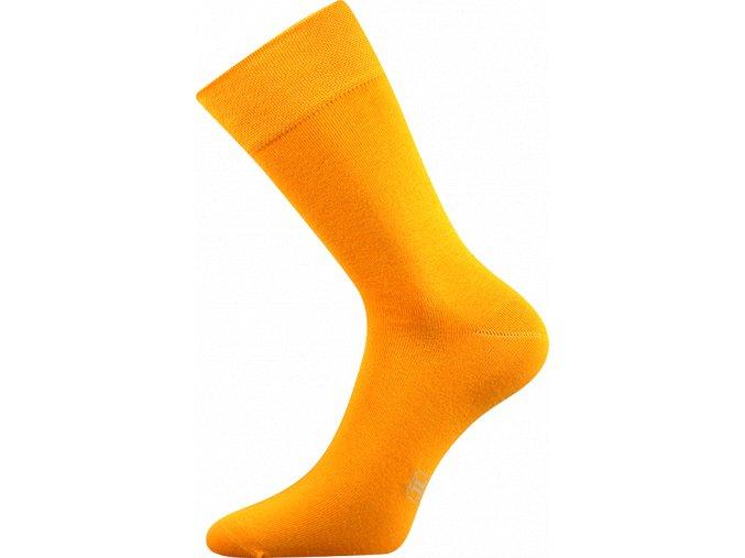 Společenské Ponožky Lonka Decolor tmavě žlutá