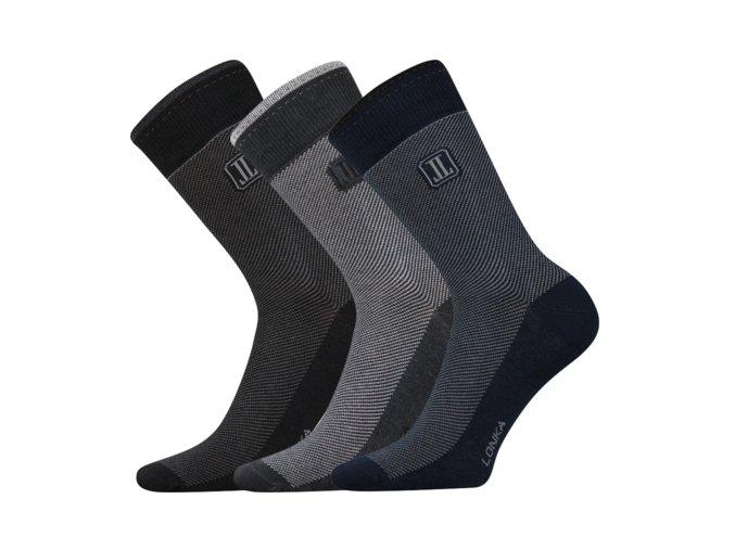 Společenské ponožky 3 kusy v balení Lonka Destrong mix A