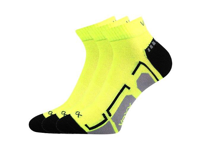 Dětské ponožky 3 kusy v balení VoXX Flashik žluté