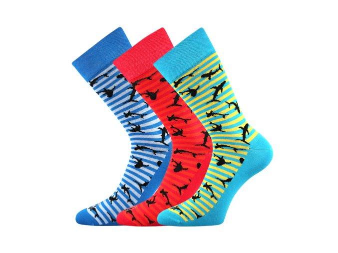 Společenské ponožky 3 kusy v balení Lonka Wearel 011