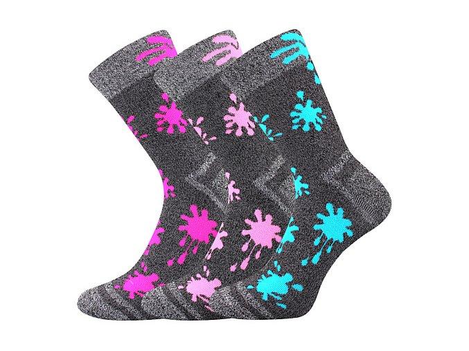 Dětské ponožky 3 kusy v balení VoXX Hawkik mix dívčí