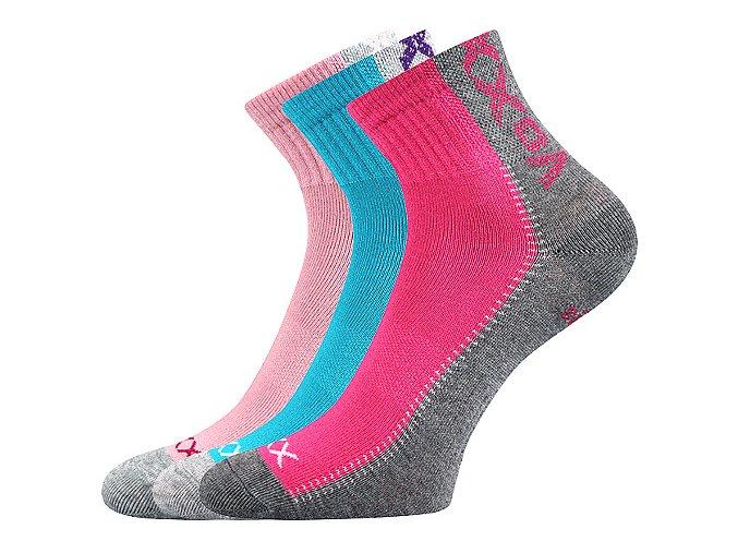 Dětské ponožky 3 kusy v balení VoXX Revoltik dívka mix B