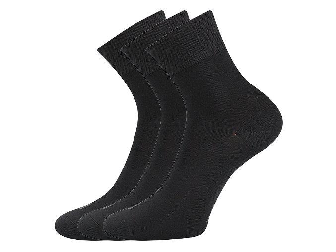 Bambusové ponožky 3 kusy v balení Lonka Demi černá