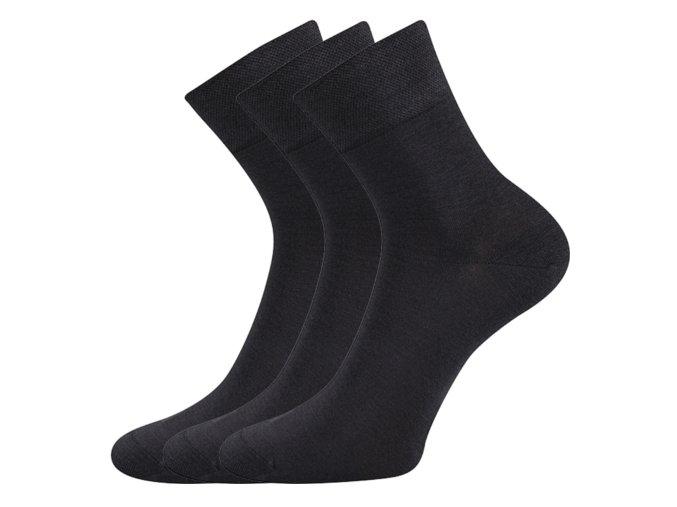 Bambusové ponožky 3 kusy v balení Lonka Demi tmavě šedá