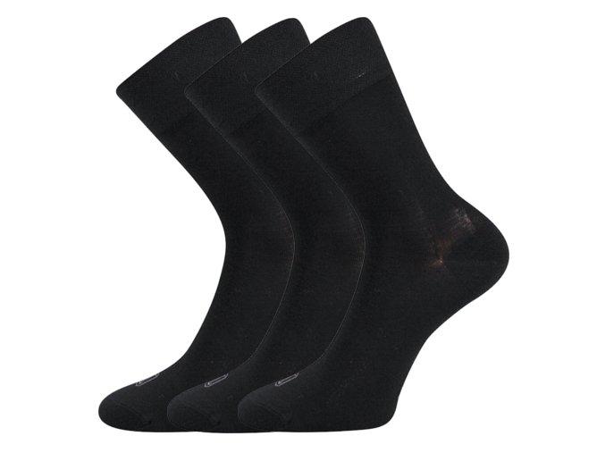 Bambusové ponožky 3 kusy v balení Lonka Deli černá
