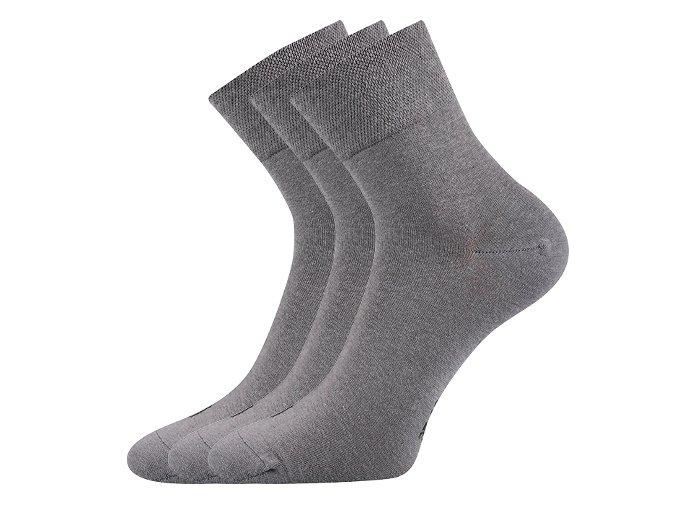 Zdravotní ponožky 3 kusy v balení Lonka Emi světle šedá