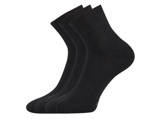 Zdravotní ponožky 3 kusy v balení Lonka Emi černá