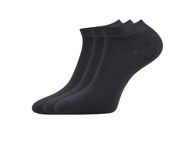 Zdravotní ponožky 3 kusy v balení Lonka Esi tmavě šedá