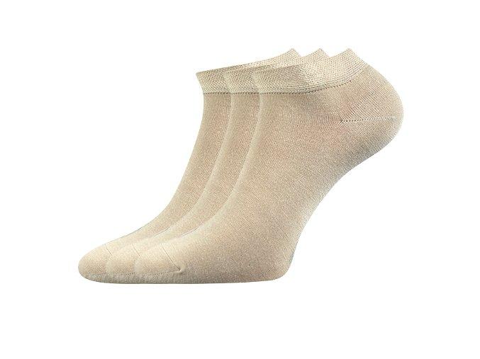Zdravotní ponožky 3 kusy v balení Lonka Esi béžová
