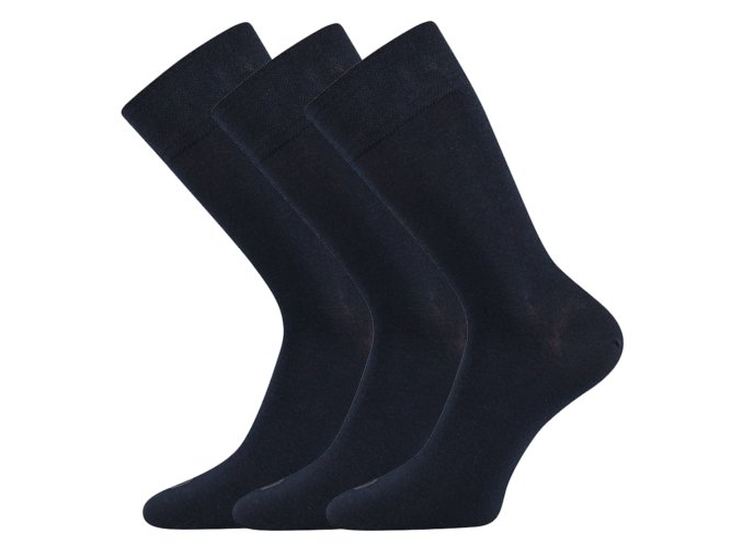 Společenské ponožky 3 kusy v balení Lonka Eli tmavě modrá