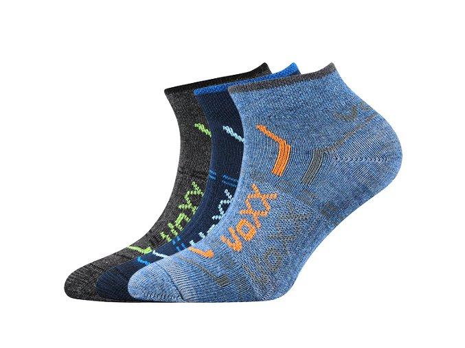 Dětské ponožky 3 kusy v balení VoXX Rexík 01 mix A