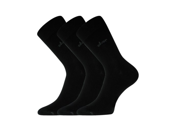 Společenské ponožky 3 kusy v balení Lonka Desilve černá
