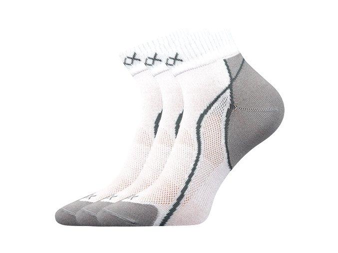 Ponožky VoXX 3 kusy v balení Grand bílá