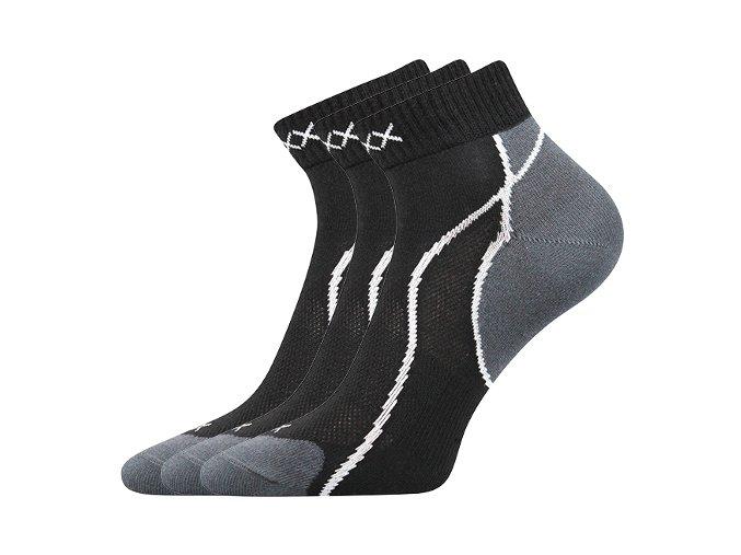 Ponožky VoXX 3 kusy v balení Grand černá