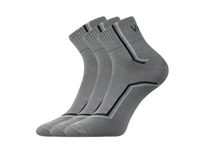 Ponožky VoXX 3 kusy v balení Kroton světle šedá