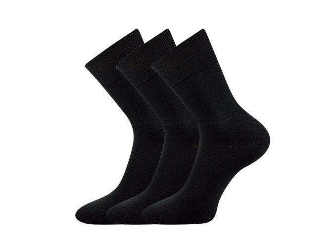 Společenské ponožky 3 kusy v balení Lonka Habin 100% bavlněné černá