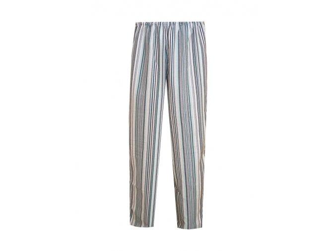 Pánské Pyžamové kalhoty Flanel Foltýn dlouhé zelený proužek