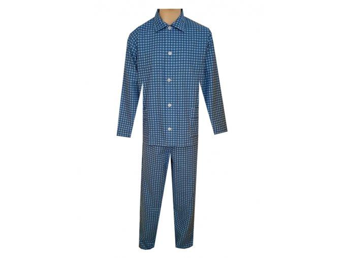 Pánské Pyžamo Flanelové FOLTÝN PF21 modrá kostička