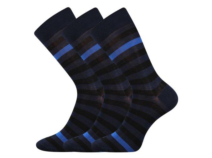 Společenské ponožky 3 kusy v balení Lonka Demertz Tmavě Modrá