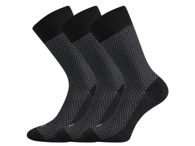 Společenské ponožky 3 kusy v balení Lonka Marcius Černá