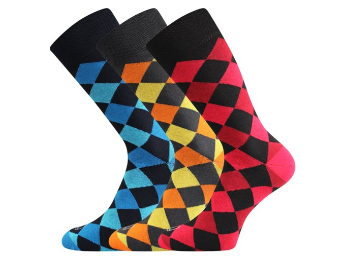 Společenské ponožky 3 kusy v balení Lonka Wearel 018