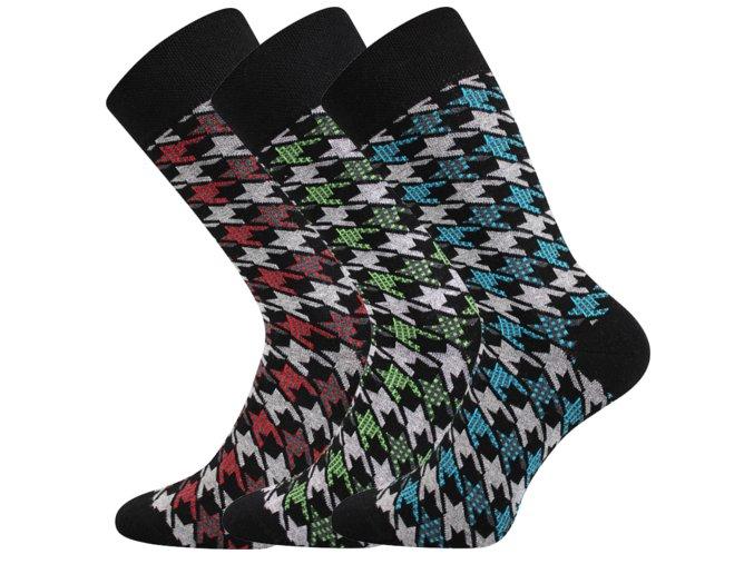 Společenské ponožky 3 kusy v balení Lonka Dikarus pepito mix c