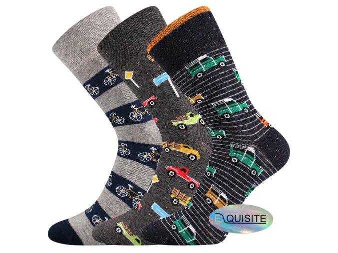 Společenské ponožky 3 páry v balení Lonka Harry mix B