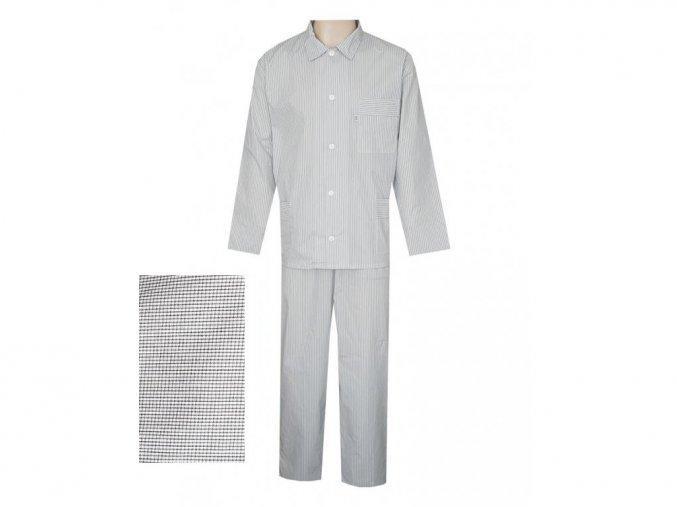 Pánské Pyžamo Popelín FOLTÝN PI11 černá kostička