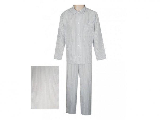 Pánské Pyžamo Popelín FOLTÝN PI12 modrý proužek