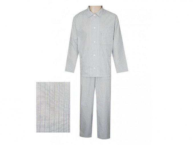 Pánské Pyžamo Popelín FOLTÝN PI14 modrý proužek