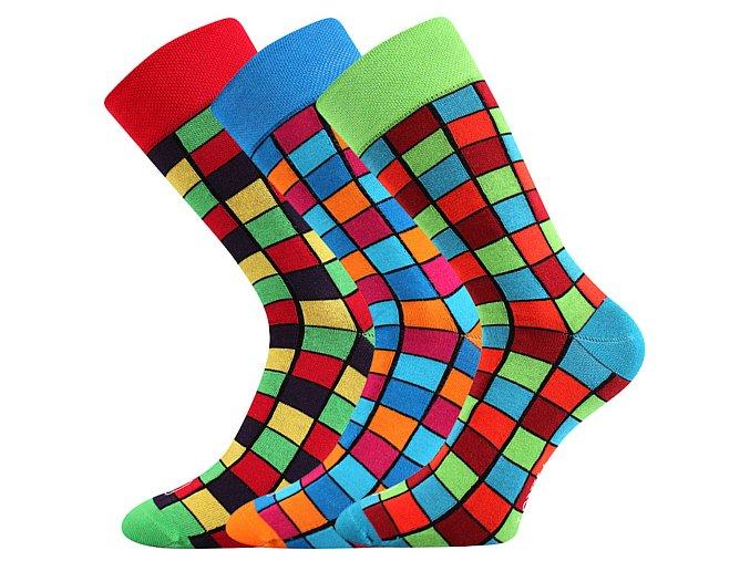 Společenské ponožky 3 kusy v balení Lonka Wearel 021