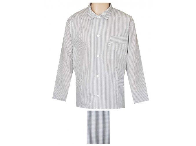 Pánský Pyžamový Kabátek Popelín FOLTÝN PPKP05