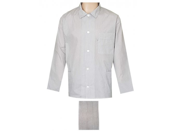 Pánský Pyžamový Kabátek Popelín FOLTÝN PPKP06