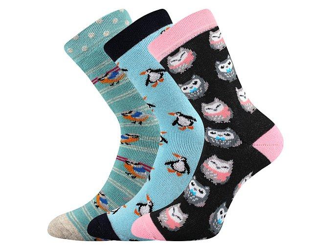 Dětské ponožky 3 kusy v balení Boma Sibiř 06 Dívka