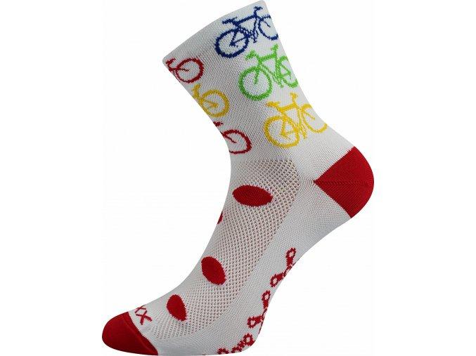 Cyklistické Ponožky VoXX Ralf X Bike Bílá