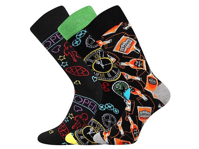 Společenské ponožky 3 kusy v balení Lonka Depate mix I