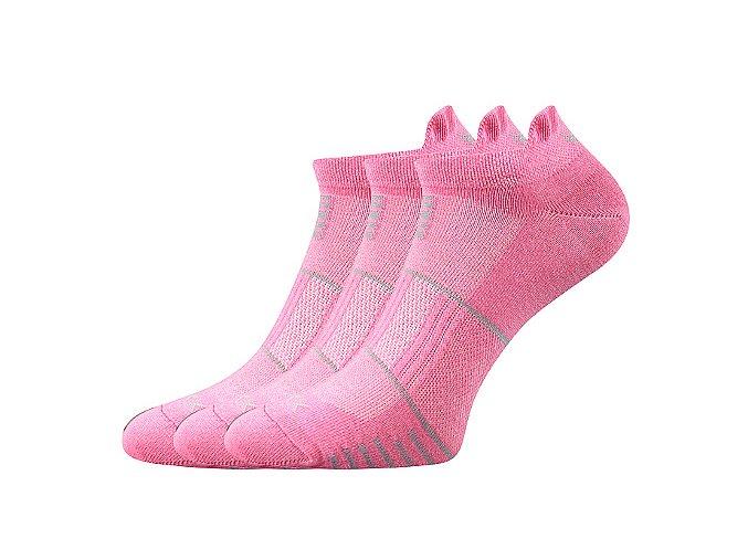 Ponožky VoXX 3 kusy v balení Avenar růžová