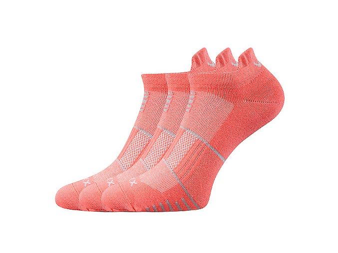 Ponožky VoXX 3 kusy v balení Avenar meruňková