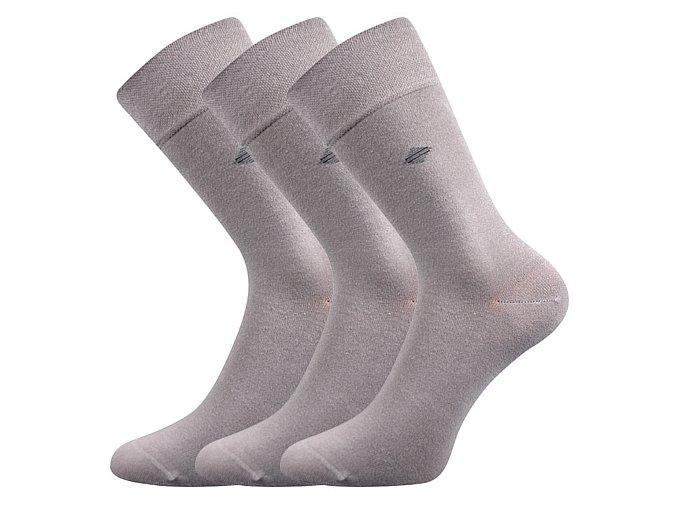 Společenské ponožky 3 kusy v balení Lonka Diagon světle šedá