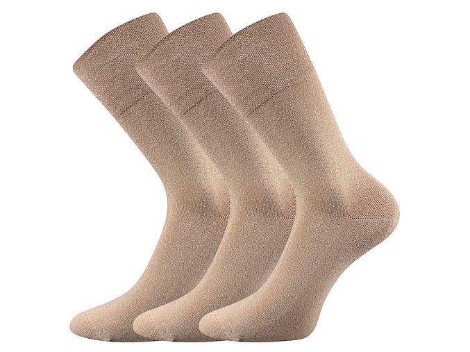Společenské ponožky 3 kusy v balení Lonka Diagram béžová